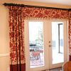 Properly hung curtains. Photo and interior design by Lee Anne Culpepper.