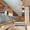 These radon pipes provide a safe ventilation route for the gas. Photo: Chris Peters/Flickr