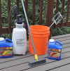 The author's deck cleaning set. (Photo by Kevin Stevens.)