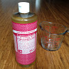 The author's own rose-scented castile soap waits to become a household cleanser.