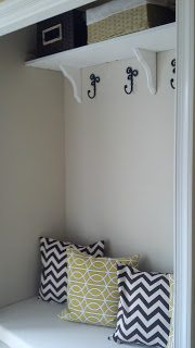 Closet mudroom and photo by Our Pinteresting Family via Hometalk.com.