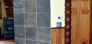 A tile accent wall by the author, KMS Woodworks (Kevin Stevens)
