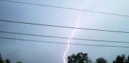 Lightning can cause power surges, which can cause one to lose data.