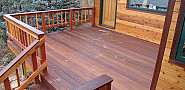 This is an Ipe and Redwood deck by Kevin Stevens.