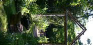 A rustic arbor in a garden near Atlanta. (Photo by Erica Glasener.)