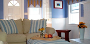 These valances are the tablecloth valances described in the article. (Photo: Linda Merrill for Networx.)