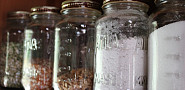 Buying food in bulk and storing it in used jars is a great way to reduce the amount of packaging that you throw away. Photo by s.e. smith for Networx.