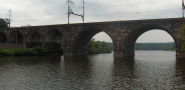 The Pennsylvania Railroad Connecting Bridge, which is near Fairmount Park. (Photo: Davidt8/Wikimedia Commons)