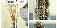 Gilded pine cones by DIY on the Cheap via Hometalk.com
