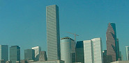 Photo of the warm, sunny skyline of Houston by Bubbels/sxc.hu.