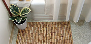 Wine cork bath mat by Brightnest.com via Hometalk.com.