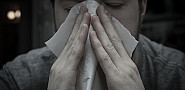 Photo of a man with allergies by William Brawley/Flickr Creative Commons.
