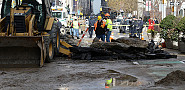 A ruptured water main in New York. Photo: Metropolitan Transportation Authority/Flickr