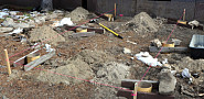 Pictured here are footers of a deck foundation. Photo by the author.