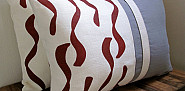Hemp pillows ClothandINK via Etsy.com