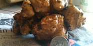 A russet potato-sized Jerusalem artichoke. Photo: Jordan Laio