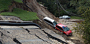 Hurricane Gaston caused this landslide in Richmond, VA.  Photo: Liz Roll via Wikimedia.