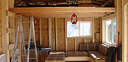 The loft in Kevin's cabin in New Mexico.