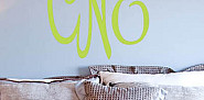 Wall monogram from Three Hip Chicks