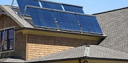 These are solar thermal collectors on an Atlanta roof. Photo courtesy of Southeast Solar Co.