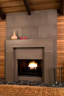 fireplace surrround- concrete
