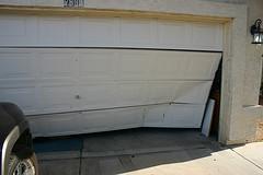 Wrecked Garage Door
