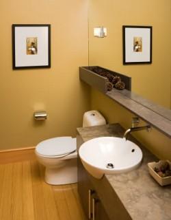 Update your half bath with a modern sink