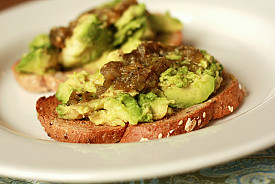 Open-face avocado and salsa verde sandwich, yum! Photo: Jennifer/Flickr