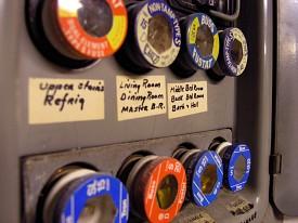 Photo of a fuse box by bretwalda/sxc.hu.
