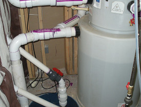 This is a gray water treatment system. Photo courtesy of Carl Seville.