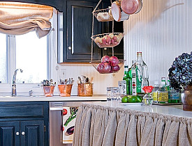 That's actually a DIY counter top made out of an old door. Photo and work by Linda Merrill of Surroundings.