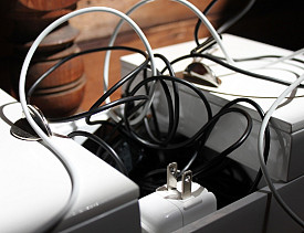 Does this mass of phone chargers look familiar to you? (Photo by s.e. smith)