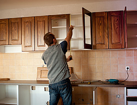 This photo illustrates how adding glass to plain wood panel can drastically change the look. (Photo: istockphoto.com)