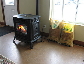 Photo of a pellet stove by USDA.gov/flickr.
