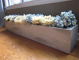 Modern flower trough by Christina's Adventures.