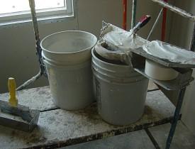 Photo of drywall mud by Mackshack/Morguefile.com.