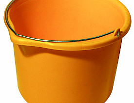 Photo of a yellow-orange bucket by maciek72/sxc.hu.