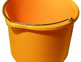 Photo of a yellow-orange bucket by maciek72/sxc.hu.
