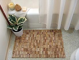 Wine cork bath mat by Brightnest.com via Hometalk.com.