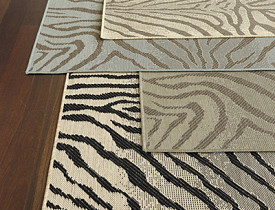 Zebra Belgique Indoor/Outdoor Rug from Ballard Designs via BallardDesigns.com
