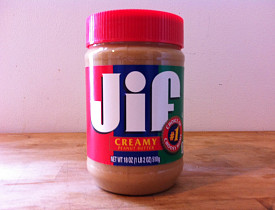 Peanut butter works for removing labels, but not much else. Don't believe the hype. (Photos by Noah Garfinkel)