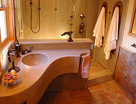This is a beautiful spa-like bathroom by Mandella Design. Photo via jghent/Flickr.