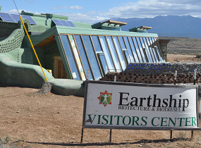 An earthship near Taos, NM. Photo by the author, Kevin Stevens.