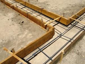 wooden concrete forms