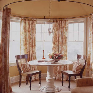 circular bay window curtain