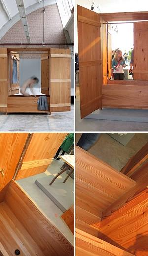 Sauna in a Cupboard via Captivatist.com