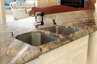 veined counter top