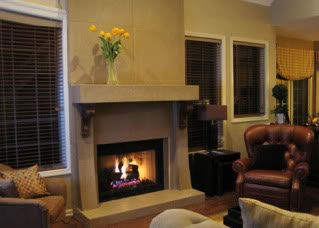 fireplace surround- concrete