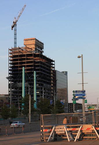 Photo of a construction site in Cincinnati by Hannaford/Flickr Creative Commons.