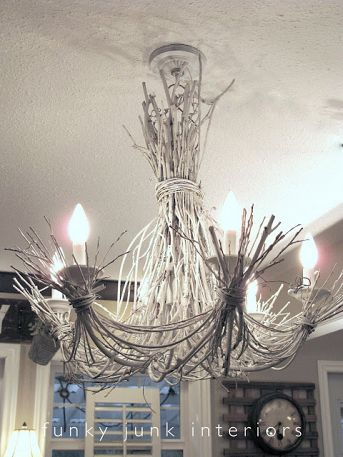 We didn't include chandeliers in the article, but how could I not share this? Funky Junk Interiors via Hometalk.com